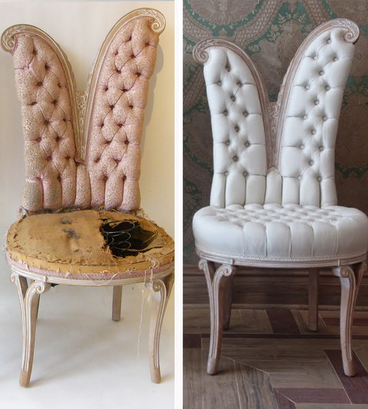 1950's Tufted Chairs