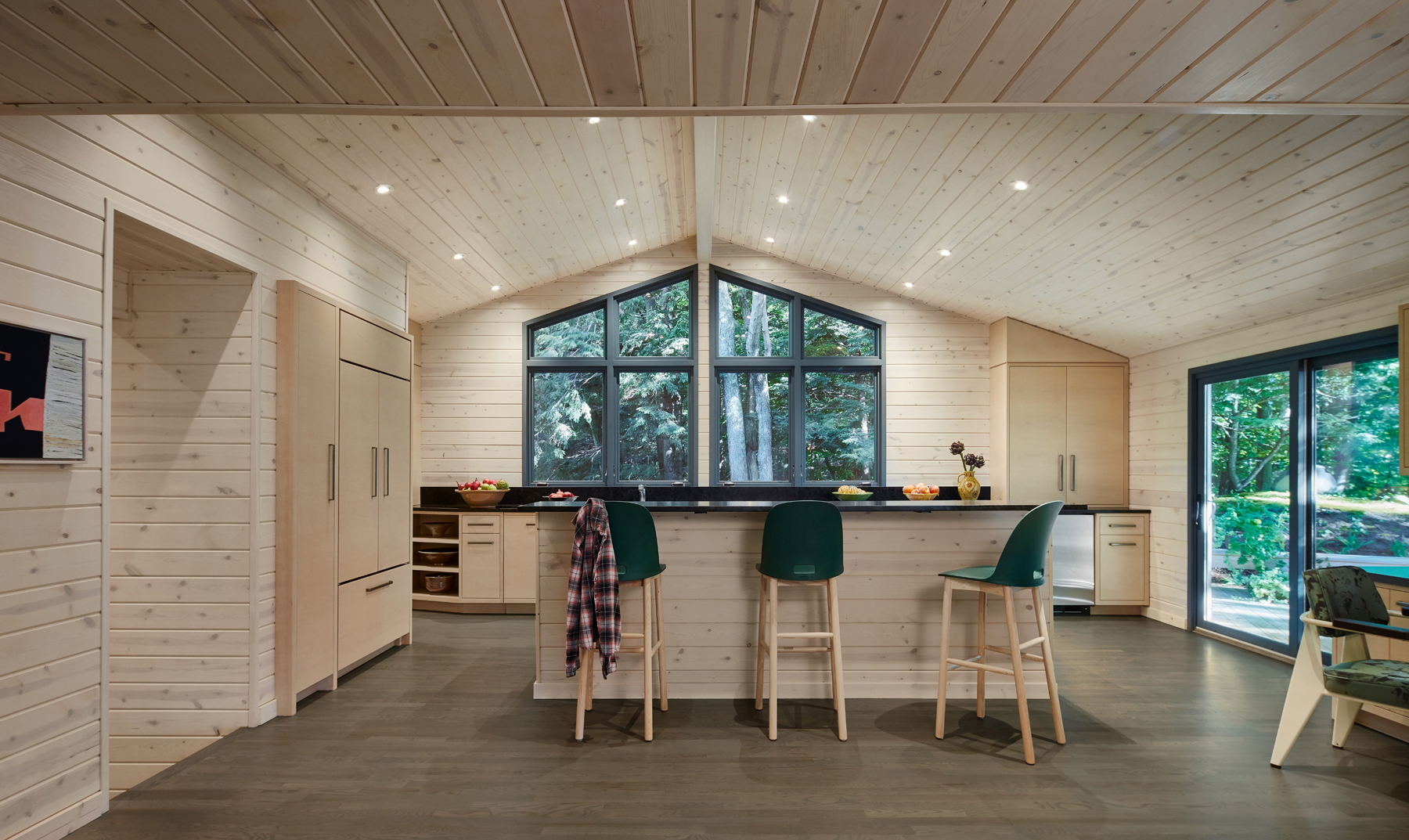 White Washed Knotty Pine Kitchen Alan